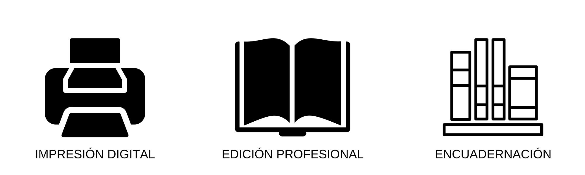 Impresión digital, edición profesional y encuadernación.